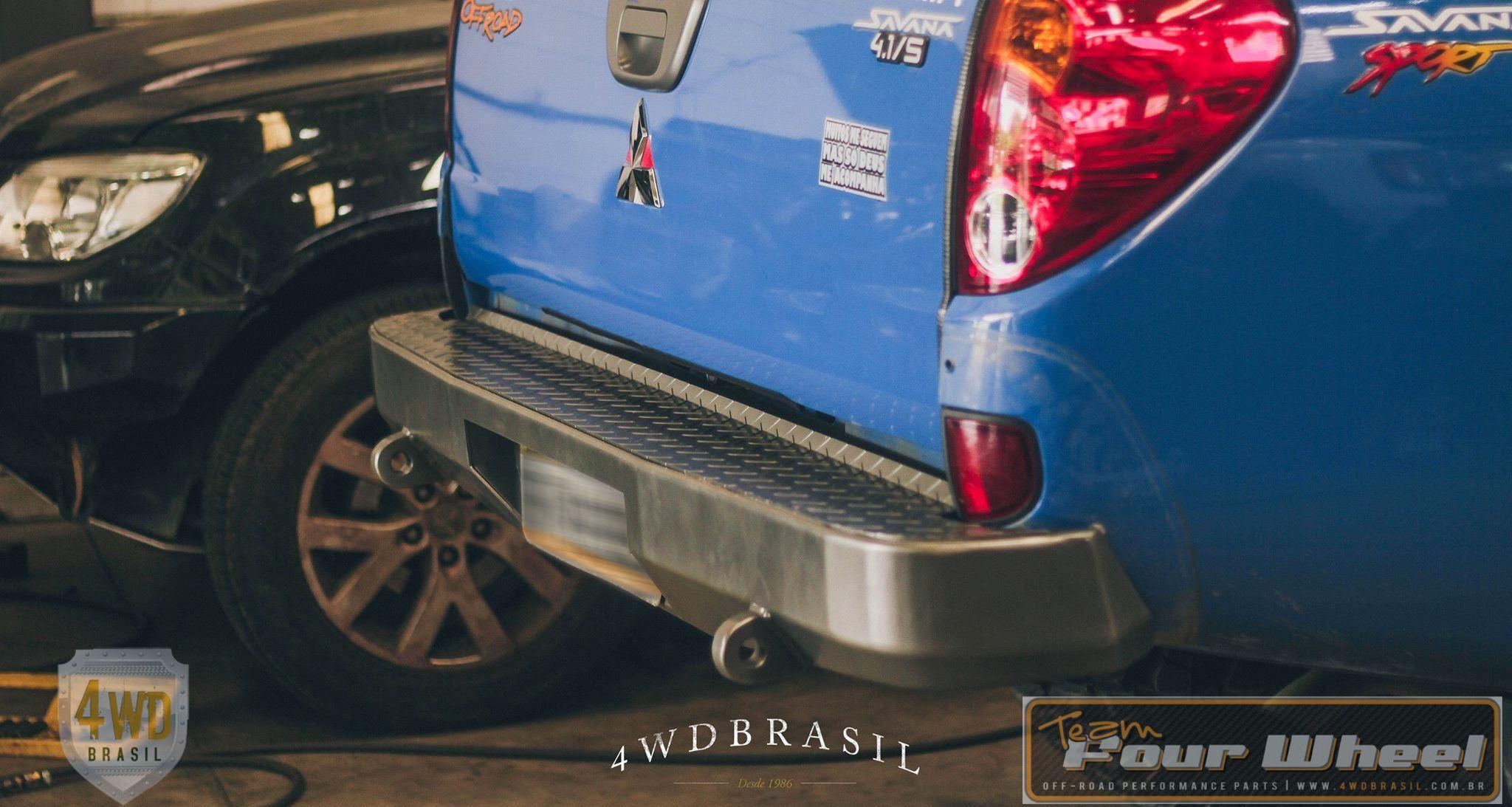 Para-choque traseiro em aço Mitsuishi L200 Triton. 4WD Brasil acessórios para OFF ROAD de alta performance.